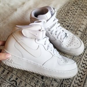 Nike Air Force One- White High Top, 6.5Y / 8 WM's